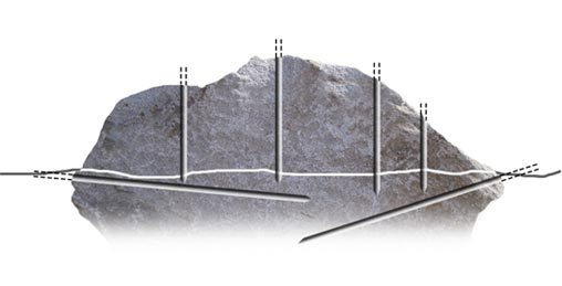 Drilling Rock Outcropping